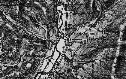 Old map of Cwm-Llinau in 1899