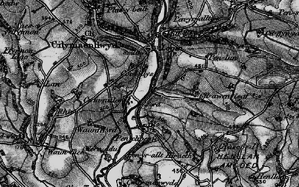 Old map of Afon Taf in 1898