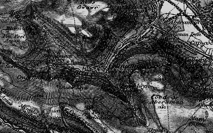 Old map of Cwmaman in 1898