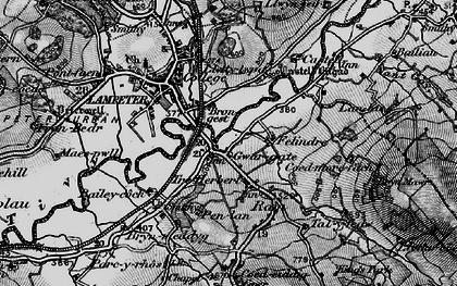 Old map of Cwmann in 1898