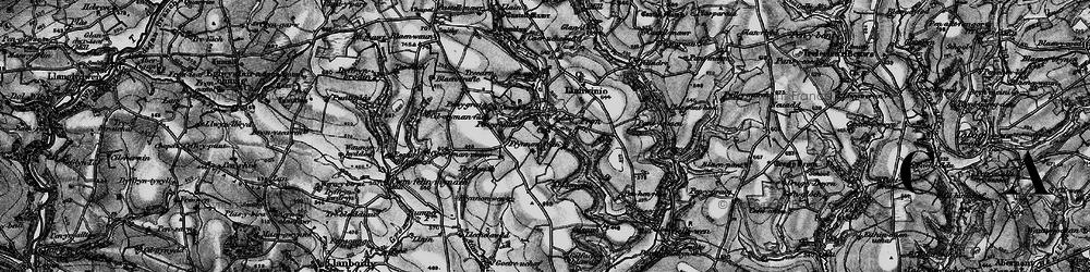 Old map of Afon Sien in 1898