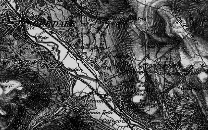 Old map of Cwmbach in 1898