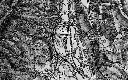 Old map of Cwmbran in 1897