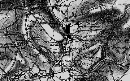 Old map of Aberbedw in 1898