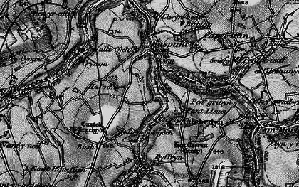 Old map of Cwmcych in 1898