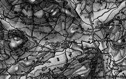 Old map of Cwmdu in 1898