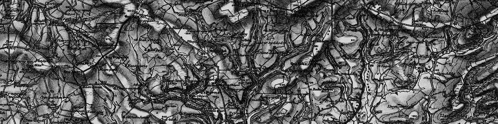 Old map of Afon Bele in 1898
