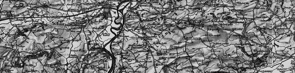Old map of Abercyfor Uchaf in 1898