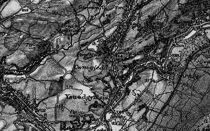 Old map of Cwmgiedd in 1898