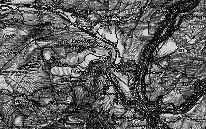 Old map of Cwmllynfell in 1898