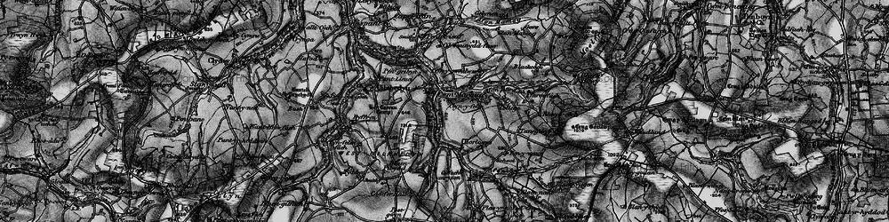 Old map of Afon Sylgen in 1898