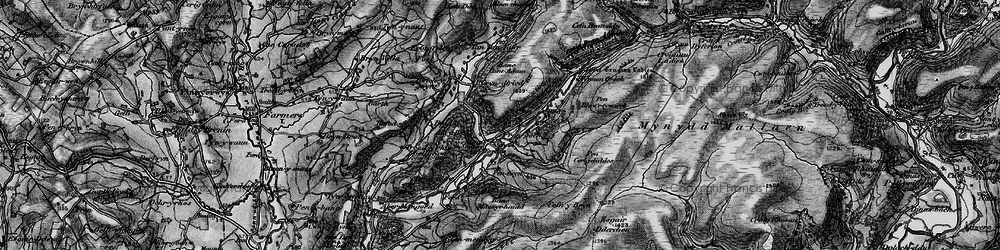Old map of Afon Fanagoed in 1898