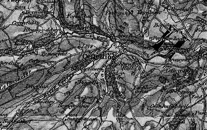 Old map of Afon Corris in 1897