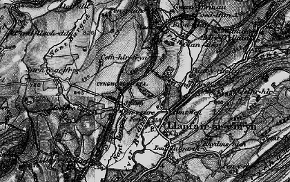 Old map of Banc Cefngarreg in 1898
