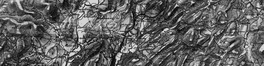 Old map of Afon Crychan in 1898