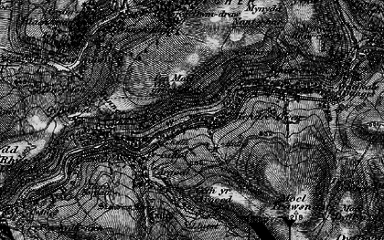 Old map of Afon Afan in 1898