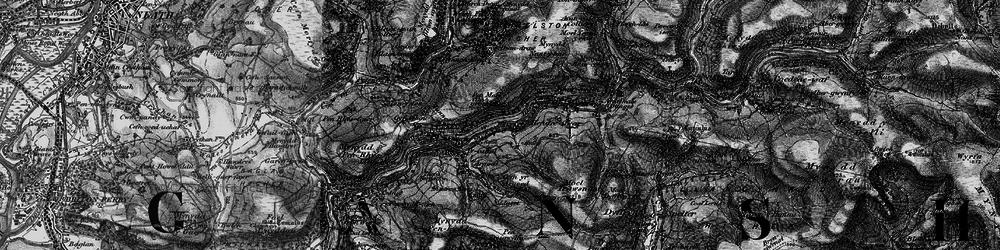 Old map of Afon Afan in 1898