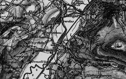 Old map of Afon Trystion in 1898