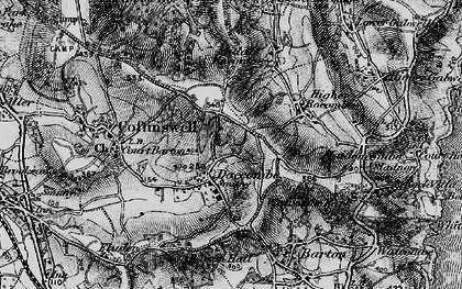 Old map of Daccombe in 1898
