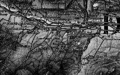 Old map of Daddry Shield in 1897