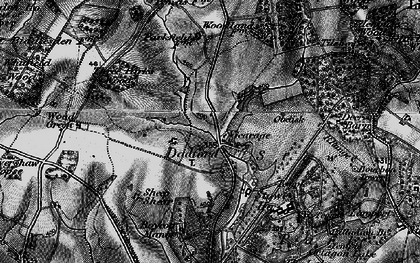 Old map of Stowe School in 1896