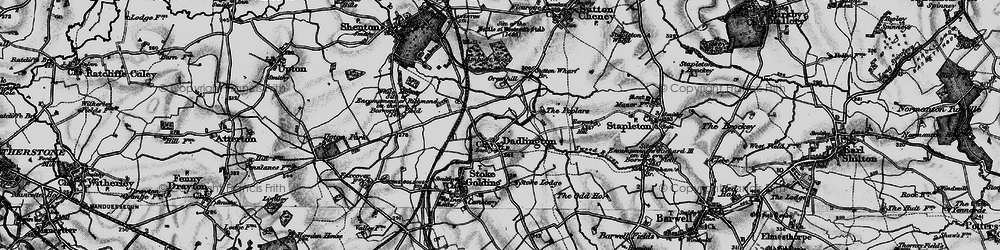 Old map of Ambion Wood in 1899