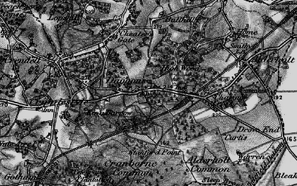 Old map of Alderholt Park in 1895