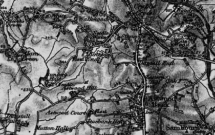 Old map of Astwood Court in 1898