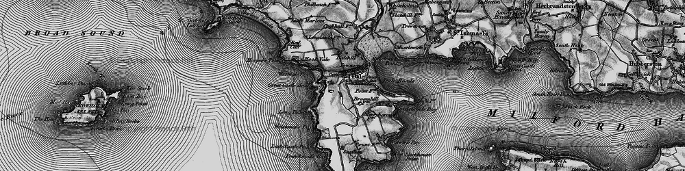 Old map of Westdale Bay in 1898