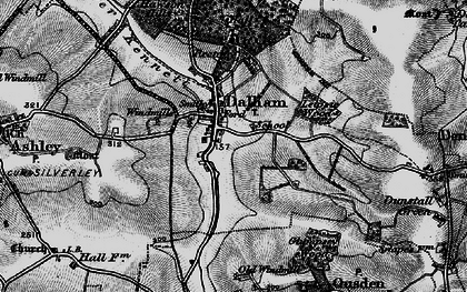Old map of Leipsic Wood in 1898