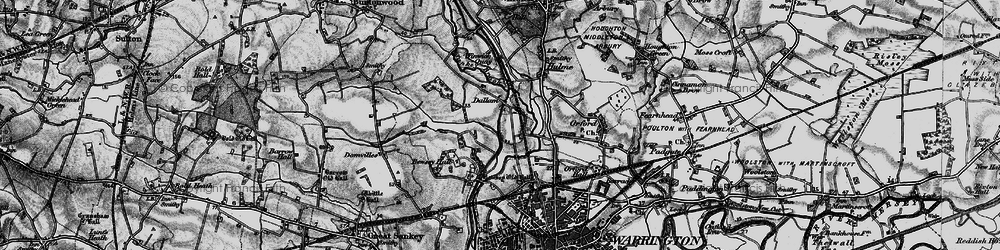 Old map of Dallam in 1896