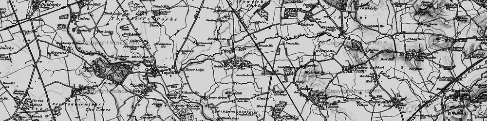 Old map of Westholme in 1898