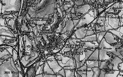 Old map of Dalton-In-Furness in 1897
