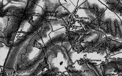 Old map of Lannock Hill in 1896