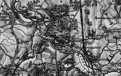 Old map of Damery in 1897