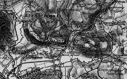 Old map of Afon Clun in 1897