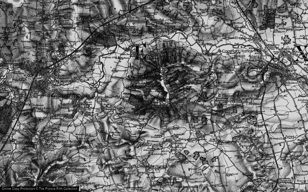 Old Map of Danbury, 1896 in 1896