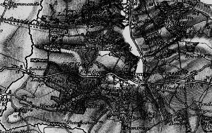Old map of Danbury in 1896