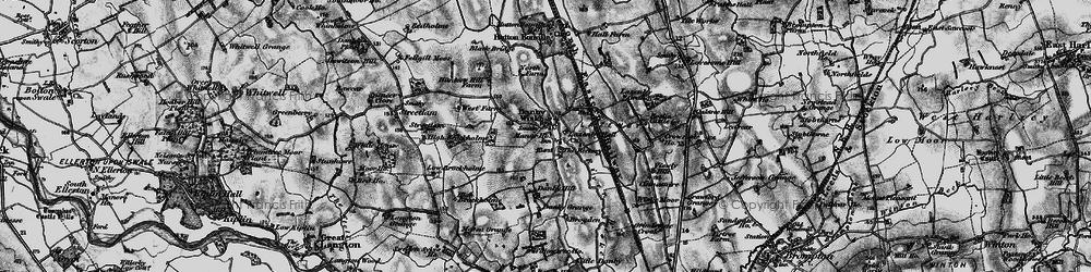 Old map of Wiske Moor in 1898