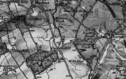 Old map of Dancers Hill in 1896