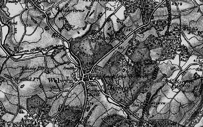 Old map of Danesbury in 1896