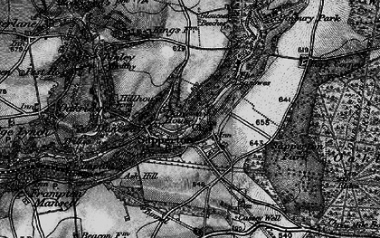 Old map of Daneway in 1896