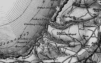 Old map of Dannonchapel in 1895