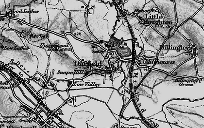 Old map of Darfield in 1896
