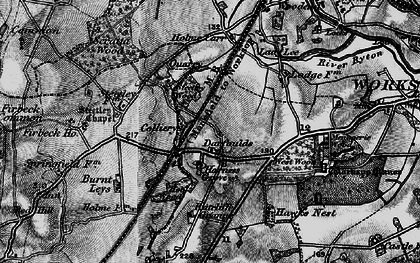 Old map of Worksop Manor in 1899