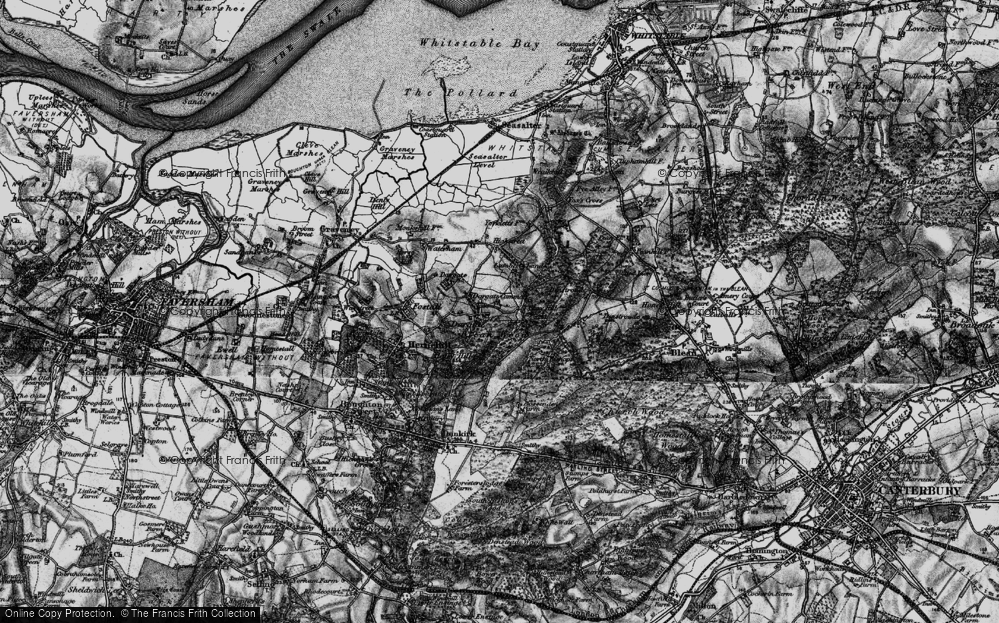 Old Map of Historic Map covering Acorn Cott in 1895