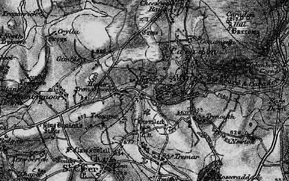 Old map of Darite in 1895