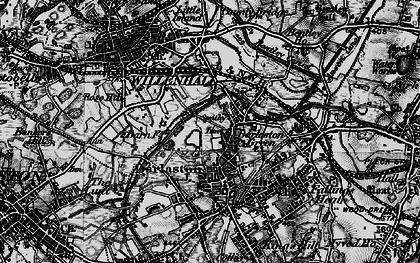 Old map of Darlaston in 1899