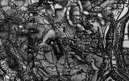 Old map of Ash Coppice in 1899