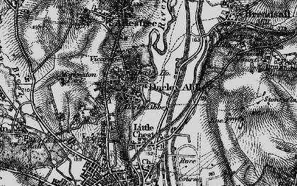 Old map of Darley Abbey in 1895
